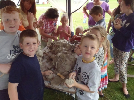 A Join-In Sculpture with The Big Skill at Archaeology For All in Merthyr.