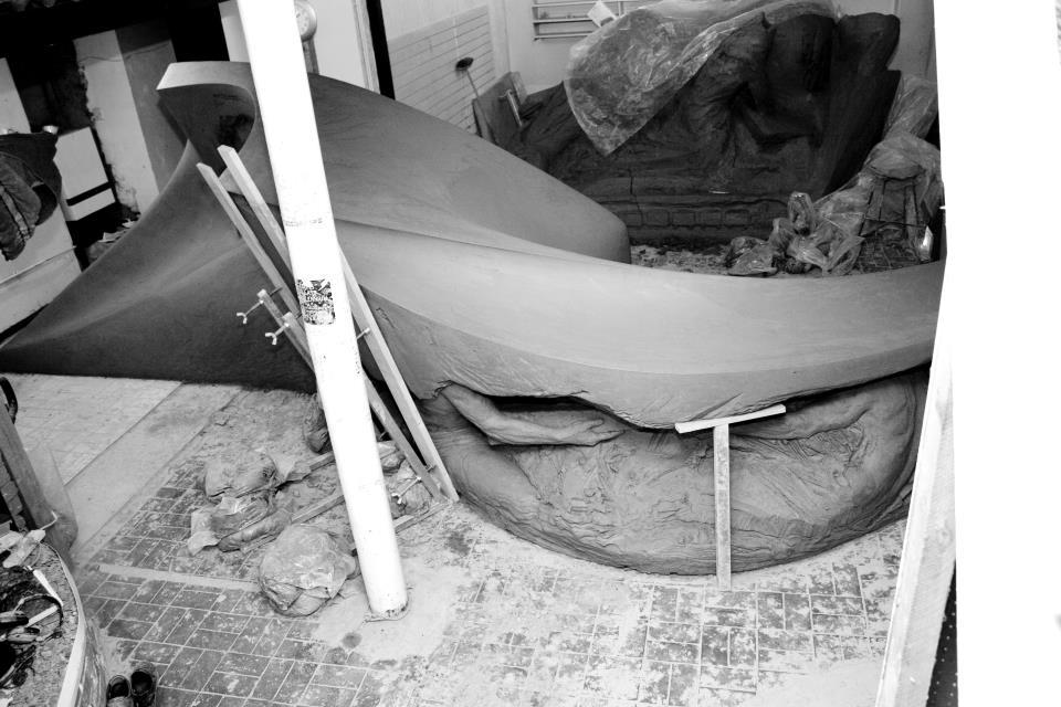 Balarat Pit Marker, 6m L x 2m H, Blaengarw, Wales.