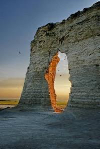 Monument Rocks , Kansas , USA ,photographer unknown.