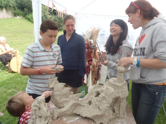 A Join In Sculpture at Brecon Jazz with The Big Skill.
