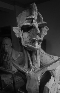 3rd Bust armature in progress, Aug 2014.