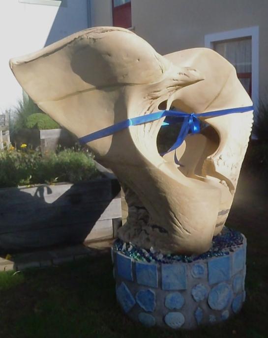 Mynydd Mawr Courtyard Sculpture, 2m h x 190cm w, 2014.