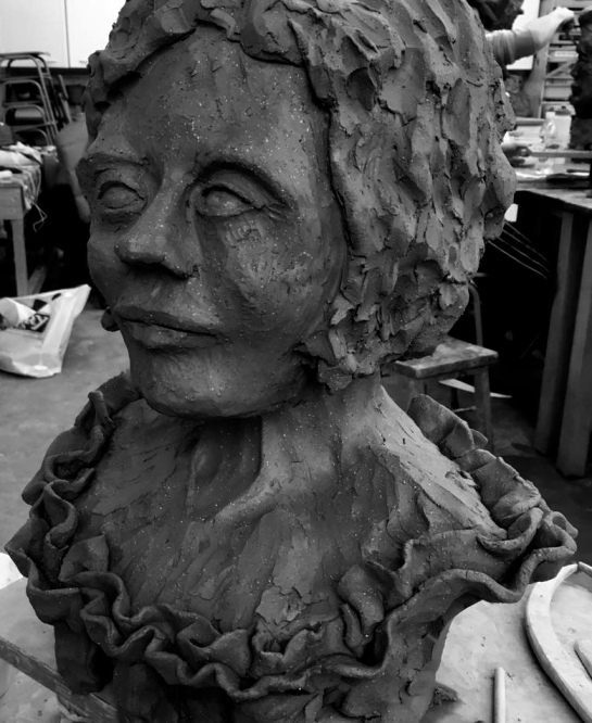 Monmouth School A level students 2 day Workshop with Rebecca Buck. The art department assistant, Kate Owens, beautiful use of clay.