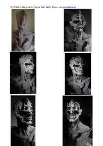 Portrait/clay armature Work-sheet. Rebecca Buck.