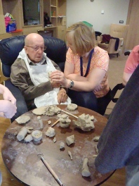 Gwalia Mynydd Mawr Home. This lovely man couldn't speak any more but he drew beautifully and loved clay.