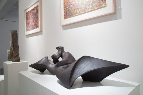 Sculpture by Rebecca Buck at Cavin-Morris Gallery, New York City, USA.