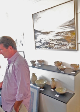 Albany have set the ceramics to compliment the paintings and it looks marvellous. The Gallery is an intimate and home-like space making it very easy to imagine the Art-work in your own home.