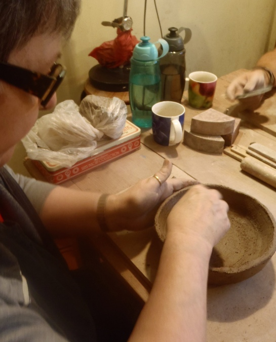 Start with the biggest pinch-pot you can comfortably make. (Unless your piece is really too big.