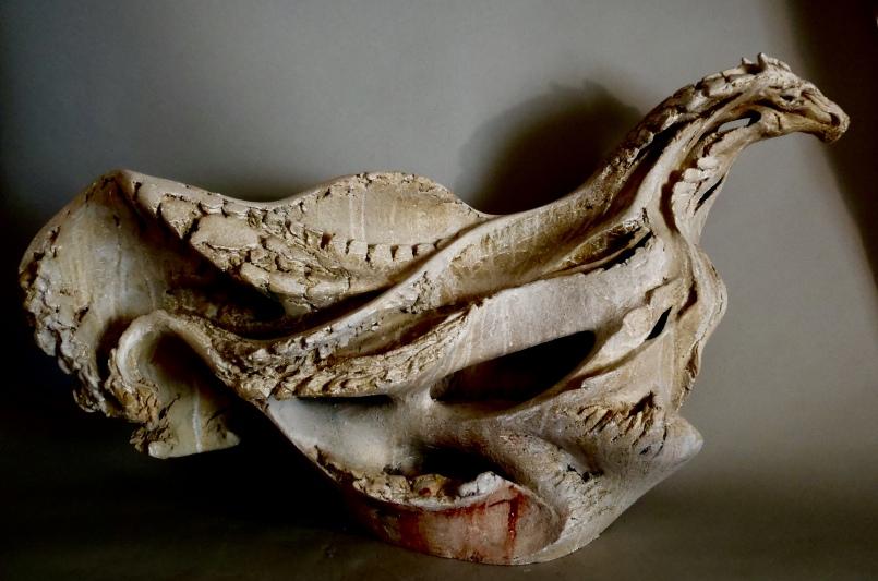 Leviathan VIII, 56cm H x 97cm L x 28cm D.