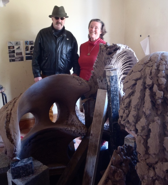 Mick Farrell and Janet Epplestone visiting Osprey Studios to help with their very useful feed-back.