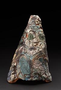 Kirk Mangus  Looking  , 1982 Stoneware, gooey glaze 15 x 10.5 x 10.5 inches 38.1 x 26.7 x 26.7 cm KMg 7