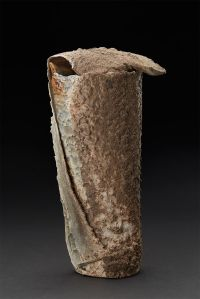 Monique Rutherford  Untitled  , 2017 Wood fired ceramic 10 x 5 x 3.5 inches 25.4 x 12.7 x 8.9 cm MRu 14