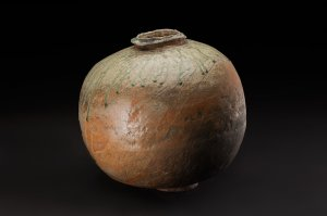 Mike Weber  Tsubo  , 2018 Wood-fired stoneware 17 x 15 x 15 inches 43.2 x 38.1 x 38.1 cm MWe 31